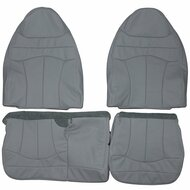 1999-2001 Ford F150 Lariat 60/40 Custom Real Leather Seat Covers (Front)