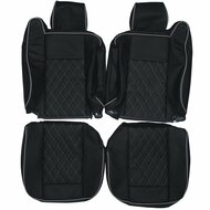 2002-2009 Hummer H2 Custom Real Leather Seat Covers (Front)