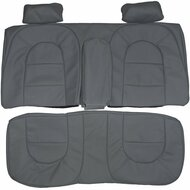 1986-1989 Saab 900 Hatchback Custom Real Leather Seat Covers (Rear)