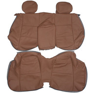 1998-2004 BMW E46 Convertible Custom Real Leather Seat Covers (Rear)
