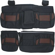 2008 Ford F150 Harley Davidson Custom Real Leather Seat Covers (Rear)