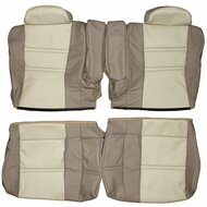 1990-1997 Toyota Land Cruiser J80 Custom Real Leather Seat Covers (Rear)