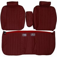 1981-1984 Cadillac DeVille Coupe Custom Real Leather Seat Covers (Front)