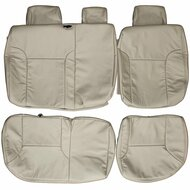 2005-2014 Toyota Tacoma Custom Real Leather Seat Covers (Rear)