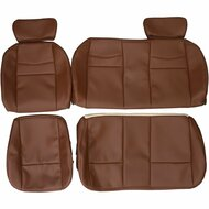 2001-2003 Ford F-150 King Ranch Crew Custom Real Leather Seat Covers (Rear)
