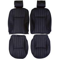1986-1994 Jaguar XJ6 XJ40 Custom Real Leather Seat Covers (Front)