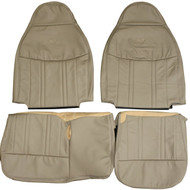 1997-1998 Ford F150 Lariat 60/40 Custom Real Leather Seat Covers (Front)