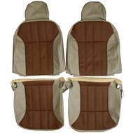 2000-2005 Chevrolet Monte Carlo Custom Real Leather Seat Covers (Front)