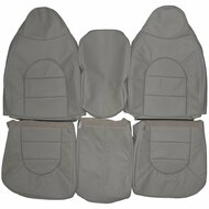 2000 Ford F250 F350 Lariat Custom Real Leather Seat Covers (Front)