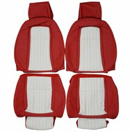 1987-1993 Ford Mustang GT Custom Real Leather Seat Covers (Front)