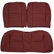 1999-2004 Ford Mustang GT Custom Real Leather Seat Covers (Rear)