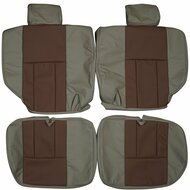1995-2002 Toyota 4Runner Custom Real Leather Seat Covers (Rear)