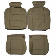 2001-2002 Ford F-150 Lariat SuperCrew Custom Real Leather Seat Covers (Front)