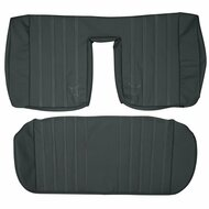 1984-1992 BMW E30 Coupe Custom Real Leather Seat Covers (Rear)