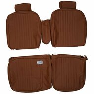 1981-1984 Cadillac DeVille 60/40 Custom Real Leather Seat Covers (Front)