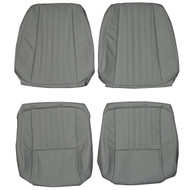 1985-1992 Pontiac Firebird Standard Custom Real Leather Seat Covers (Front)