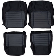 2001-2002 Ford F150 Harley Davidson Custom Real Leather Seat Covers (Front)