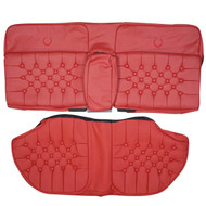 1980-1986 Cadillac Fleetwood Brougham Custom Real Leather Seat Covers (Rear)