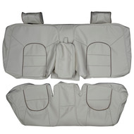 1998-2003 Jaguar XJ8 Vanden Plas Custom Real Leather Seat Covers (Rear)