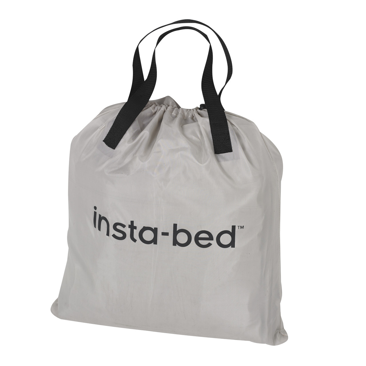 Insta-Bed Raised Queen Pillow Top w/neverFLAT™ Pump airbed packed in storage bag