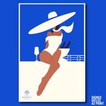 CHAMPAGNE IN THE PENTHOUSE SUITE- GICLEE PRINT