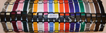 "CollarSafe SET OF (16) Soft Nylon Puppy ID ""Snap"" Buckle Collars for Puppy Identification"