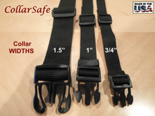 """Width Comparison, 1"""" is normal width of average dog collar."""