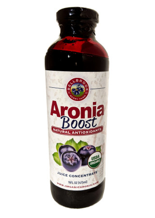 Aronia Juice Concentrate, 16oz,  glass bottle The juice of 3200 berries in every bottle