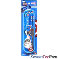 Marvel Captain America Stainless Steel Spoon Chopsticks Case Set