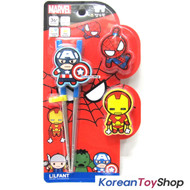 Marvel Captain America Stainless Steel Training Chopsticks Changeable Buttons