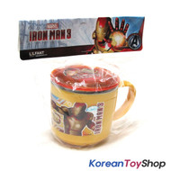 Marvel Iron Man Stainless Steel Cup w/ Lid, Non Sip Pad