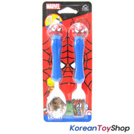 Marvel Spider Man Mascot Stainless Steel Spoon Fork Set Kids Children