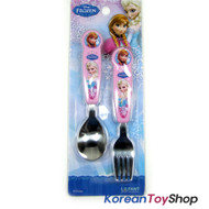 Disney Frozen Cute Stainless Steel Spoon Fork Set for Young Kids 001