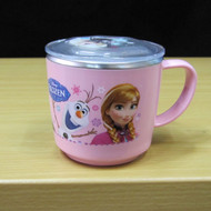 Disney Frozen Stainless Steel Cup with Lid Cover Non Slip pad BPA Fee  001