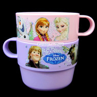 Disney-Frozen-Character-Cute-2-pcs-Handle-Cups-Set,-Plastic-Cup