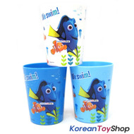 Disney Finding DORY Nemo Plastic 3 pcs Cup Set 180ml Light Strong Cups Korea