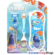 Disney Finding Dory Nemo Stainless Steel Spoon Training Chopsticks Case Set