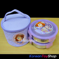 Disney-Sofia-the-First-Stainless-Steel-Insulated-Lunch-Box-2-pcs-Round-Bag-Set
