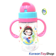 Disney Princess Snow White Tritan Water Bottle Silicone Straw Handle BPA Free