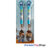 Robocar Poli Stainless Steel Mascot Spoon Fork Blue Color BPA Free
