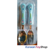 Robocar Poli Stainless Steel Spoon Fork New Wave Type Blue Color BPA Free