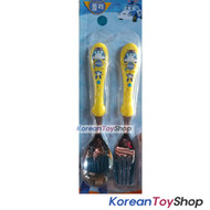 Robocar Poli Stainless Steel Spoon Fork Comportable Yellow Color BPA Free