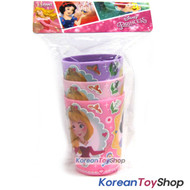 Disney Princess Snow White Cinderella Little Mermaid Plastic Cup 3 pcs Set Cups