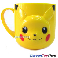 Pokemon Pikachu Face Plastic Handle Cup / Made in Korea