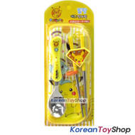 Pokemon Pikachu Stainless Steel Spoon & Training Chopsticks Case Set BPA Free