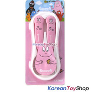 Barbapapa Stainless Steel Spoon Fork Case Set Comfortable Easy Kids