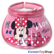 Disney Mickey Minnie Mouse Visor Hat Sun Cap Kids Girl Pink Designed Korea N.03