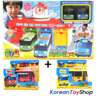 The Little Bus Tayo Main Garage with 4 Buses (Tayo Rogi Gani Rani) Package Set