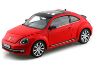 Volkswagen Beetle 2012 Red 1/18 Scale Diecast Car Model By Welly 18042