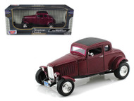 1932 Ford 5 Five Window Coupe Purple 1/18 Scale  Diecast Car Model By Motor Max 73171